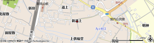 宮城県大崎市古川大幡(新道上)周辺の地図
