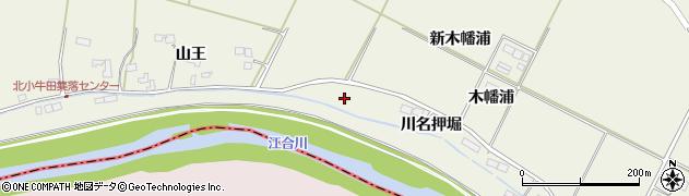 宮城県大崎市田尻北小牛田(新木幡浦)周辺の地図