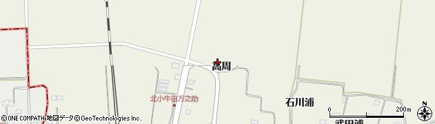 宮城県大崎市田尻北小牛田(高周)周辺の地図