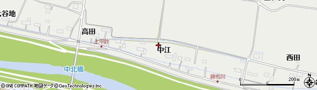 宮城県遠田郡美里町平針中江の地図 住所一覧検索|地図マピオン