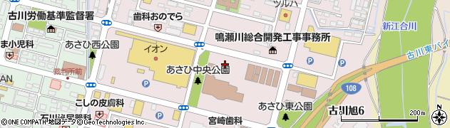 宮城県大崎市古川旭周辺の地図