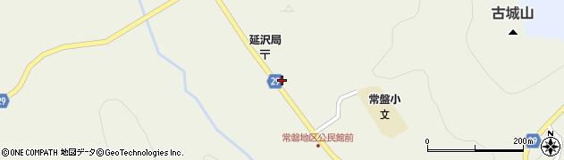 山形県尾花沢市延沢周辺の地図