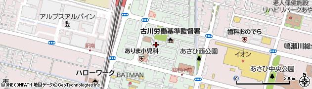 宮城県大崎市古川駅南周辺の地図