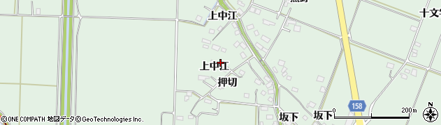 宮城県大崎市古川飯川(上中江)周辺の地図