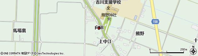宮城県大崎市古川飯川(向田)周辺の地図