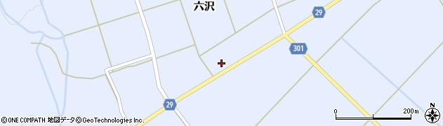 山形県尾花沢市六沢260周辺の地図