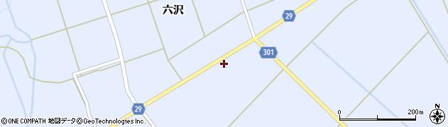 山形県尾花沢市六沢177周辺の地図