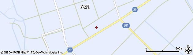 山形県尾花沢市六沢周辺の地図