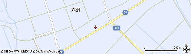 山形県尾花沢市六沢267周辺の地図