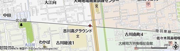 宮城県大崎市古川稲葉(中立江)周辺の地図