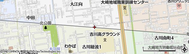 宮城県大崎市古川稲葉(一本橋)周辺の地図