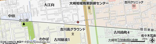 宮城県大崎市古川稲葉(亀ノ子)周辺の地図