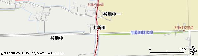 宮城県大崎市田尻北小牛田(上新田)周辺の地図