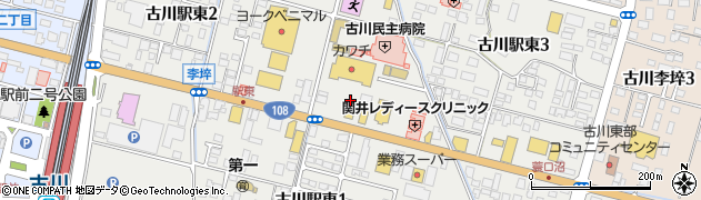 宮城県大崎市古川駅東周辺の地図