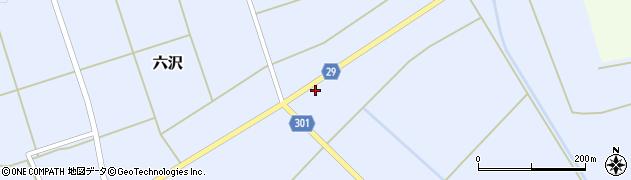 山形県尾花沢市六沢163周辺の地図