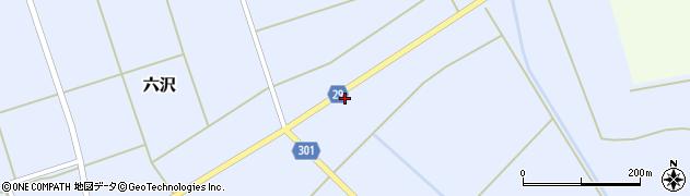 山形県尾花沢市六沢160周辺の地図
