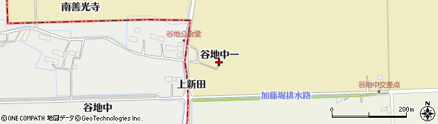 宮城県大崎市田尻大沢(谷地中一)周辺の地図