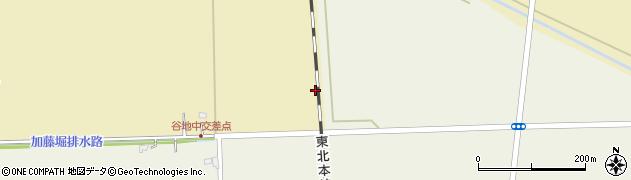 宮城県大崎市田尻大沢(谷地中四)周辺の地図