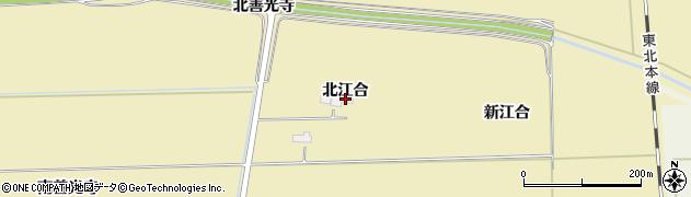 宮城県大崎市田尻大沢(北江合)周辺の地図