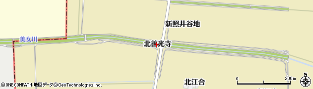 宮城県大崎市田尻大沢(北善光寺)周辺の地図