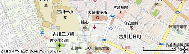 宮城県大崎市周辺の地図