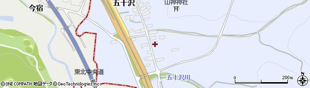 山形県尾花沢市五十沢140周辺の地図