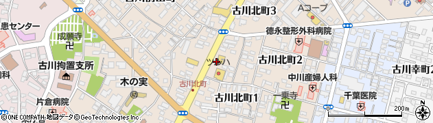 古川佐沼線周辺の地図
