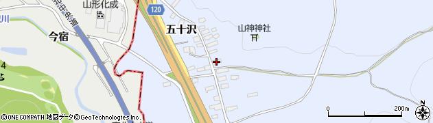 山形県尾花沢市五十沢146周辺の地図
