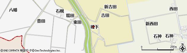 宮城県大崎市古川柏崎(堤下)周辺の地図