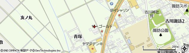 宮城県大崎市古川(青塚)周辺の地図