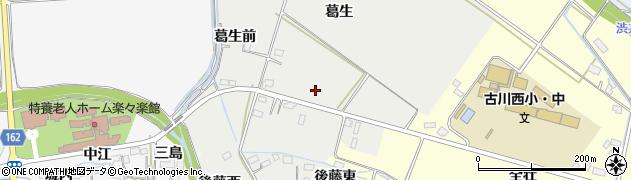 宮城県大崎市古川荒田目(葛生)周辺の地図