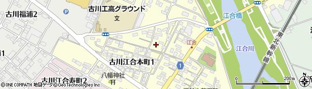 宮城県大崎市古川江合本町周辺の地図