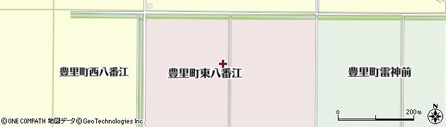 宮城県登米市豊里町東八番江周辺の地図