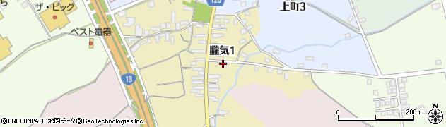 山形県尾花沢市朧気1丁目周辺の地図