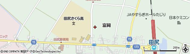 宮城県大崎市田尻沼部(新富岡)周辺の地図