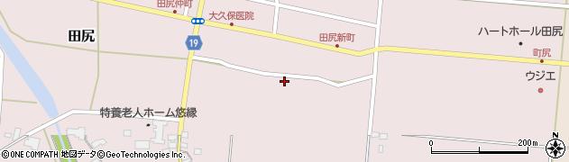 宮城県大崎市田尻(小才下)周辺の地図