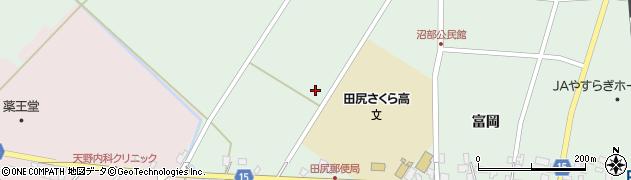宮城県大崎市田尻沼部(中新堀)周辺の地図