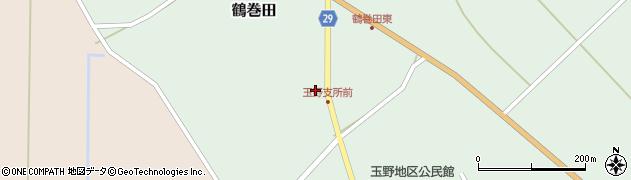 山形県尾花沢市鶴巻田491周辺の地図