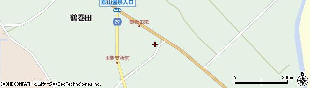 山形県尾花沢市鶴巻田467周辺の地図