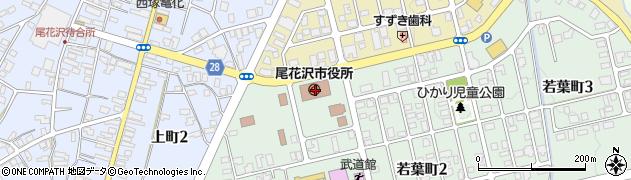 山形県尾花沢市周辺の地図