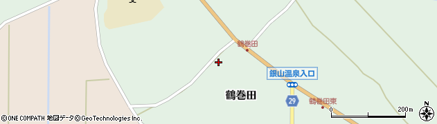 山形県尾花沢市鶴巻田554周辺の地図
