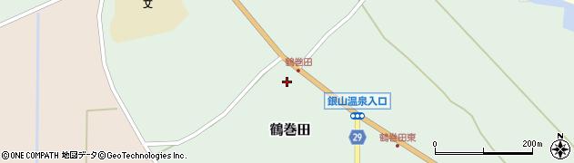 山形県尾花沢市鶴巻田424周辺の地図