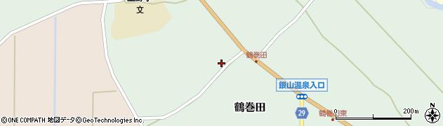 山形県尾花沢市鶴巻田555周辺の地図