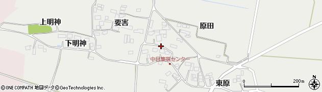 宮城県大崎市田尻中目周辺の地図