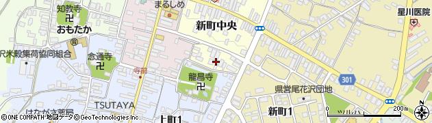 山形県尾花沢市新町中央1周辺の地図