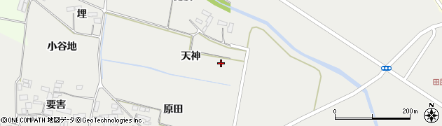 宮城県大崎市田尻中目(天神)周辺の地図