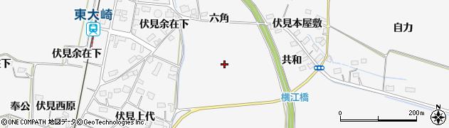 宮城県大崎市古川大崎(新六角)周辺の地図
