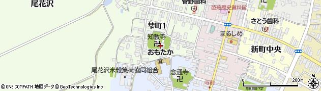 知教寺周辺の地図