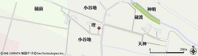 宮城県大崎市田尻中目(埋)周辺の地図
