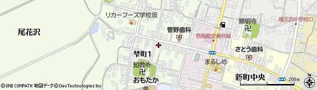 山形県尾花沢市梺町周辺の地図